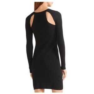 Elizabeth and James Cut Out Long Sleeve Dress